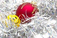 Weihnachtsflitter und -lächeln Lizenzfreies Stockfoto