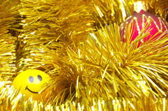 Weihnachtsflitter und -lächeln Lizenzfreie Stockfotografie