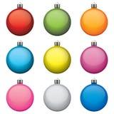 Weihnachtsflitter, verschiedene Farben und Muster,  vektor abbildung