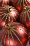 Weihnachtsflitterdekorationen Stockfoto