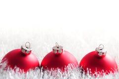 Weihnachtsflitterpostkarte Stockfotografie