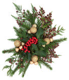 Weihnachtsflora und -flitter Lizenzfreie Stockfotografie