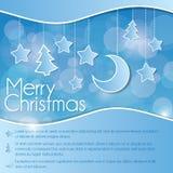 Weihnachtsflugblatt lizenzfreie abbildung