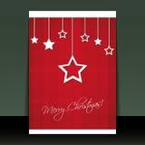 Weihnachtsflugblatt-oder -abdeckung-Auslegung Stockfoto