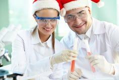 Weihnachtsforscher Stockfoto