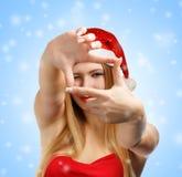 Weihnachtsfotorahmen Lizenzfreies Stockfoto