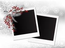 Weihnachtsfotorahmen Lizenzfreie Stockfotos