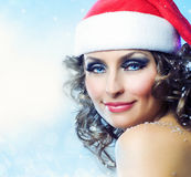 Weihnachtsfrau Lizenzfreie Stockfotos