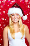 Weihnachtsfrau lächelt Lizenzfreie Stockbilder