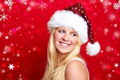 Weihnachtsfrau lächelt Lizenzfreies Stockbild