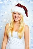 Weihnachtsfrau mit Sternen Lizenzfreies Stockbild