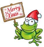 Weihnachtsfrosch Lizenzfreies Stockfoto