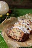 Weihnachtsfruchtkuchen lizenzfreies stockfoto