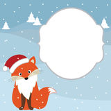 Weihnachtsfuchskarte Lizenzfreie Stockbilder
