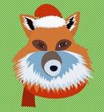 Weihnachtsfuchsporträt Lizenzfreies Stockfoto