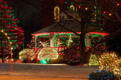 Weihnachtsgazebo Stockfotografie