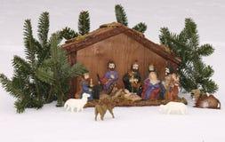 WeihnachtsGeburt Christiszene Stockfoto