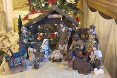WeihnachtsGeburt Christiszene Stockfotografie