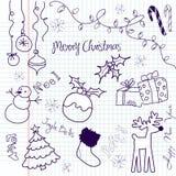 Weihnachtsgekritzel Stockfotografie