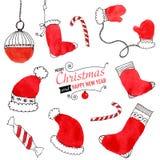 Weihnachtsgekritzel Stock Abbildung