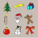 Weihnachtsgekritzel Lizenzfreies Stockbild