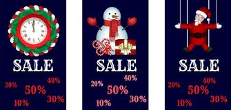 Weihnachtsgeschäftfahnen Lizenzfreie Stockfotos