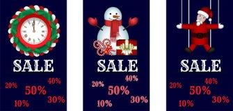 Weihnachtsgeschäftfahnen stock abbildung