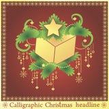 Weihnachtsgeschenk auf dem spruse vektor abbildung