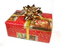 Weihnachtsgeschenk auf weißem Hintergrund Stockbild