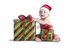 Weihnachtsgeschenk-Baby Stockbild