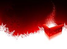 Weihnachtsgeschenk-Kasten Stockfotos