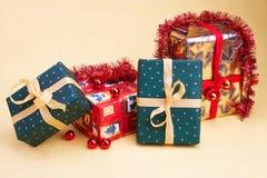 Weihnachtsgeschenk - Kerstmis stelt voor stock afbeelding