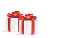 Weihnachtsgeschenk, lokalisierter weißer Hintergrund Stockfoto