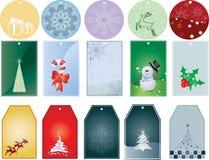 Weihnachtsgeschenk-Marken Stockbilder