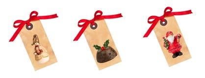 Weihnachtsgeschenk-Marken Stockbild
