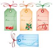 Weihnachtsgeschenk-Marken, Vektor Lizenzfreie Stockfotos