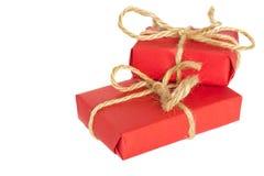 Weihnachtsgeschenk mit Geschenken Stockfotografie