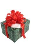 Weihnachtsgeschenk mit Karte lizenzfreie stockfotos