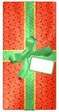 Weihnachtsgeschenk mit Marke Lizenzfreies Stockbild
