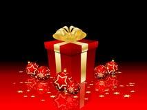 Weihnachtsgeschenk und -flitter Lizenzfreie Stockfotos