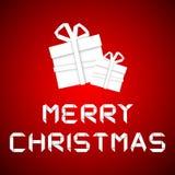 Weihnachtsgeschenk vom Weißbuch, Karte des neuen Jahres Lizenzfreies Stockfoto