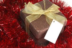 Weihnachtsgeschenk Whitgirlande Lizenzfreies Stockfoto