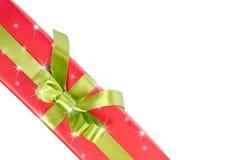Weihnachtsgeschenkbox mit Sternen Lizenzfreies Stockbild
