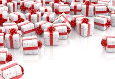 Weihnachtsgeschenkboxen lokalisierten lizenzfreie abbildung