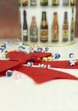 Weihnachtsgeschenkdekoration Lizenzfreies Stockbild