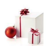 Weihnachtsgeschenke in den Kästen Lizenzfreie Stockbilder