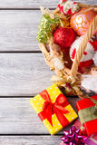 Weihnachtsgeschenke für Freunde und Verwandte Lizenzfreie Stockbilder