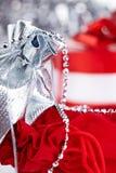 Weihnachtsgeschenke, Makroeintragfaden Lizenzfreies Stockfoto