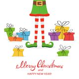 Weihnachtsgeschenke und Elfenbeine Lizenzfreie Stockbilder