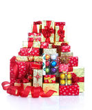 Weihnachtsgeschenke und Geschenke stockfotografie